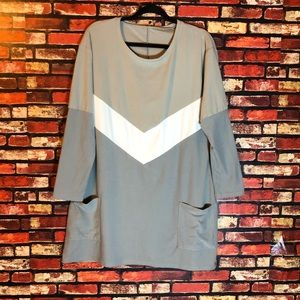 Large Super Soft Grey Tunic with pockets!!
